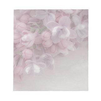 Flor de la lila bloc de notas