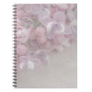Flor de la lila libreta espiral