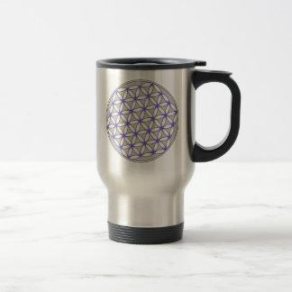 Flor de la lila del gris de la vida tazas de café