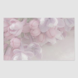 Flor de la lila pegatina rectangular