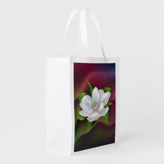Flor de la magnolia bolsas para la compra