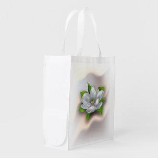 Flor de la magnolia bolsa para la compra