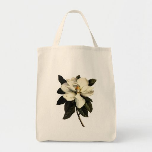 Flor de la magnolia - bolso bolsa tela para la compra