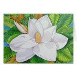Flor de la magnolia felicitaciones