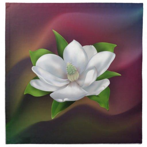 Flor de la magnolia servilletas
