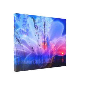 Flor de la mañana - lona impresión de lienzo