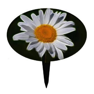 Flor de la margarita figura de tarta