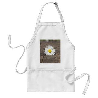 Flor de la margarita blanca delantal