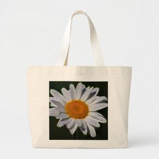 Flor de la margarita bolsa lienzo