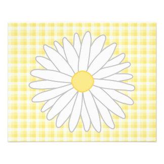 Flor de la margarita en amarillo y blanco tarjeton