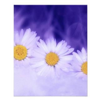 Flor de la margarita flyer personalizado