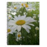 Flor de la margarita libro de apuntes con espiral