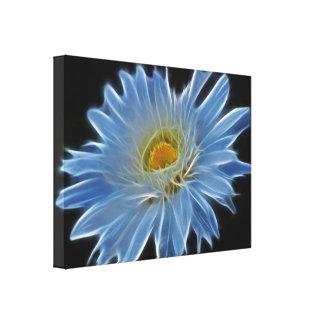 Flor de la margarita impresión de lienzo