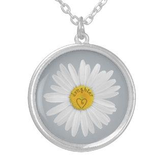 Flor de la margarita para el fondo del personaliza joyerías