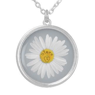Flor de la margarita para el fondo del personaliza joyeria personalizada