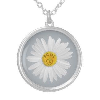 Flor de la margarita para tía Art Customize para r Collar