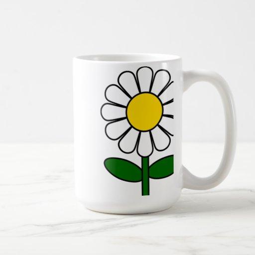 Flor de la margarita taza