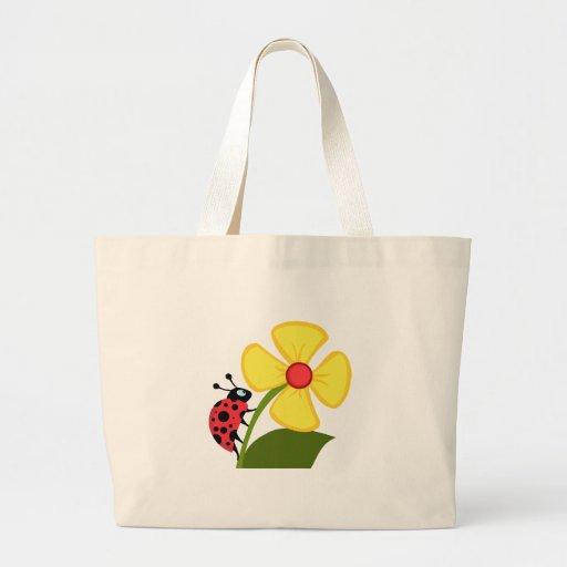 Flor de la mariquita bolsas
