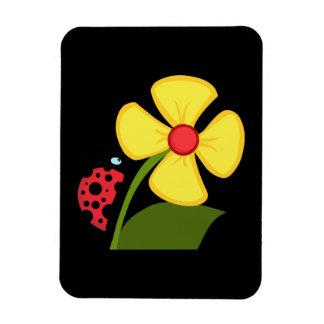Flor de la mariquita imán