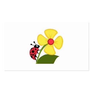 Flor de la mariquita tarjetas personales