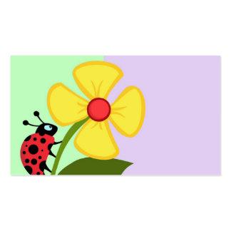 Flor de la mariquita plantillas de tarjeta de negocio
