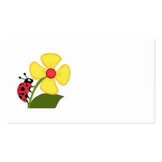 Flor de la mariquita tarjetas de visita