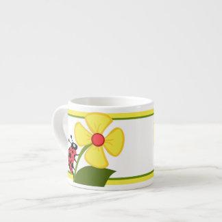 Flor de la mariquita taza de espresso