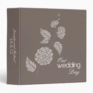 """Flor de la moca nuestro álbum del día de boda carpeta 1 1/2"""""""