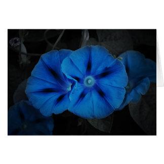 """""""Flor de la noche"""" tarjeta del saludo/de nota"""