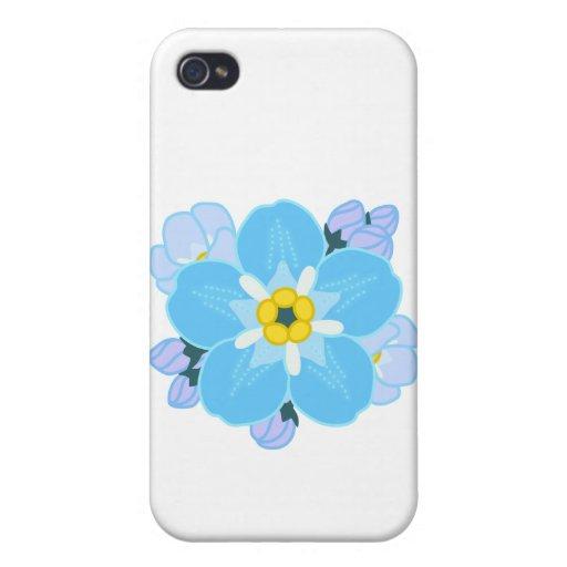 Flor de la nomeolvides iPhone 4/4S carcasas