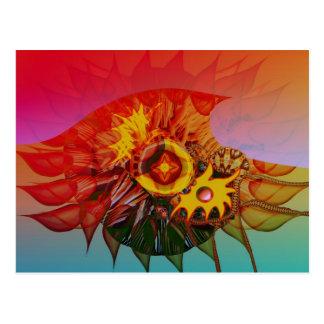 Flor de la onda tarjeta postal