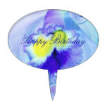Flor de la orquídea azul decoraciones de tartas