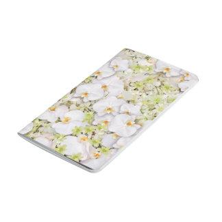 Flor de la orquídea cuaderno grapado