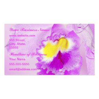 Flor de la orquídea del rosa en colores pastel tarjetas de visita