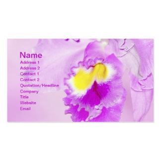 Flor de la orquídea del rosa en colores pastel tarjeta de visita