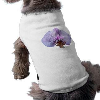 Flor de la orquídea playera sin mangas para perro