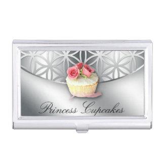 Flor de la panadería de la magdalena de la vida caja de tarjetas de negocios