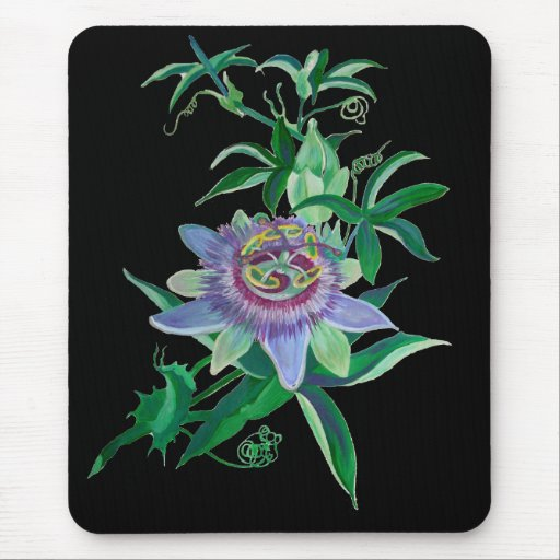 Flor de la pasión tapetes de ratones