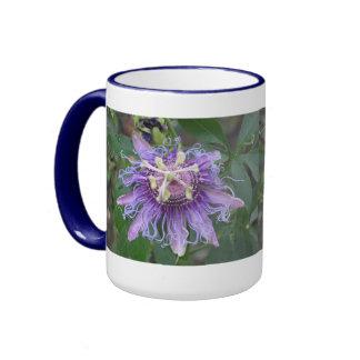 Flor de la pasión taza de dos colores