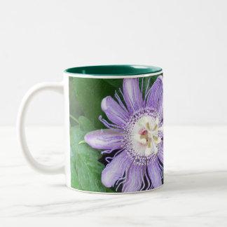 Flor de la pasión taza de dos tonos