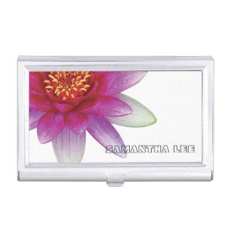 Flor de la paz el | Lotus/lirio de agua rosados Cajas De Tarjetas De Presentación