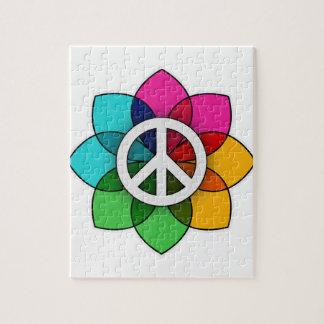 Flor de la paz puzzles