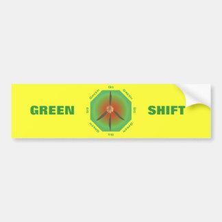 Flor de la paz - va el verde pegatina de parachoque