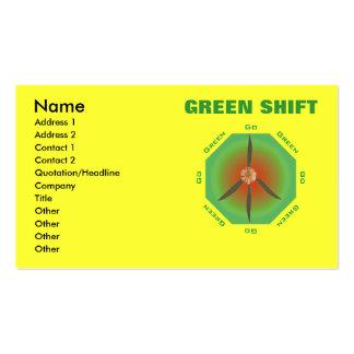 Flor de la paz - va el verde plantillas de tarjetas personales