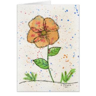 Flor de la peca tarjeta de felicitación