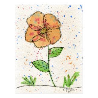 Flor de la peca postal