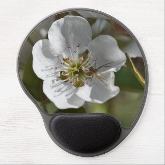 Flor de la pera con la araña alfombrilla de raton con gel
