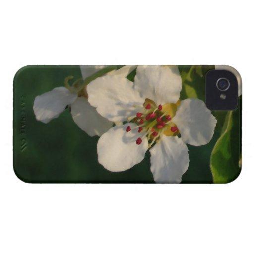flor de la pera de Barely There de la casamata del Case-Mate iPhone 4 Cárcasas