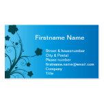 Flor de la planta de agua en el océano azul tarjeta de visita