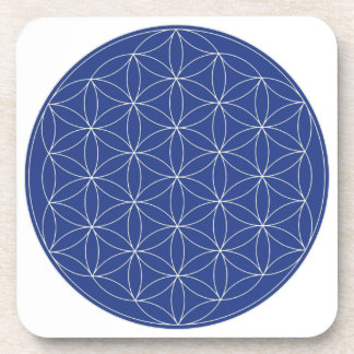 Flor de la plata del azul de la vida posavasos